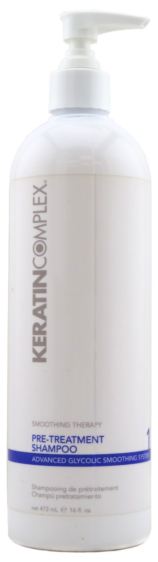 Keratin Complex Smoothing Therapy Advanced Glycolic Smoothing System 1 Pre-Treatment Shampoo 16 oz.
