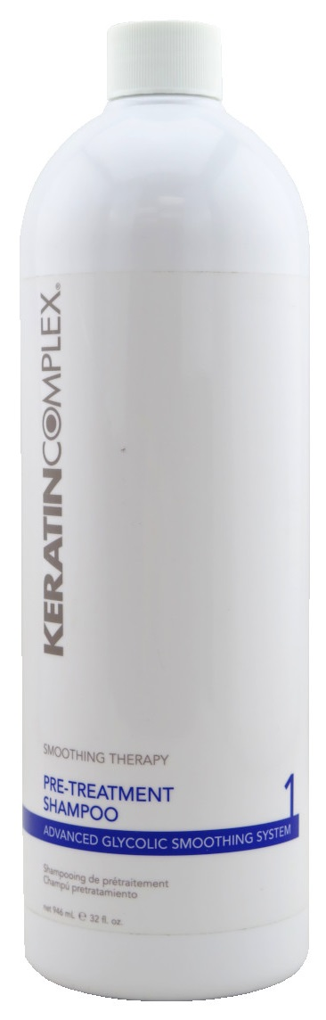 Keratin Complex Smoothing Therapy Advanced Glycolic Smoothing System 1 Pre-Treatment Shampoo 32 oz.