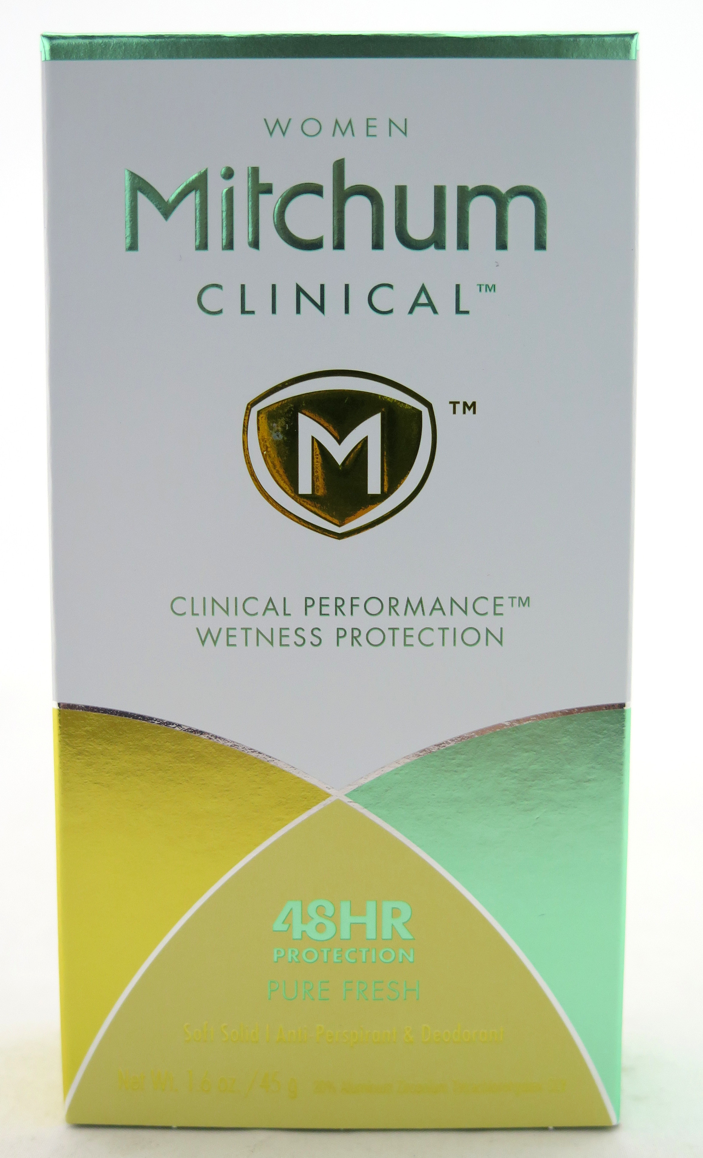 Mitchum Clinical Performance Soft Solid Anti-Persperant & Deodorant - For Women - Pure Fresh 1.6 oz