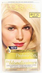L'Oreal Paris Superior Preference Les Blondissimes Permanent Hair Color - LB12 - Extra Light Sun Blonde