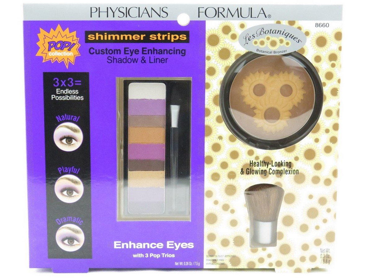 Physicians Formula Gift Set #8660 - set of 2 pieces: Shimmer Strips Custom Eye Enhancing Shadow & Liner + Les Botaniques
