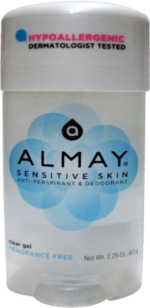 Almay Sensitive Skin Clear Gel Anti-Persperant & Deodorant for Women Fragrance Free 2.25 oz #3105-76