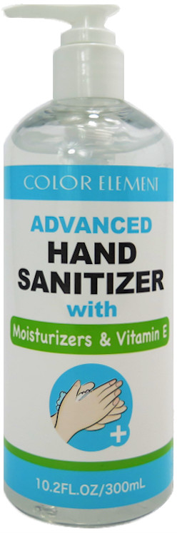 Color Element Hand Sanitizer with Moisturizers & Vitamin E - 10.2 oz. with pump