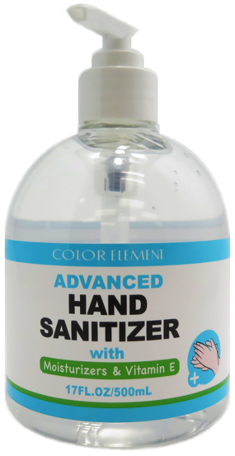 Color Element Hand Sanitizer with Moisturizers & Vitamin E - 17 oz. with pump