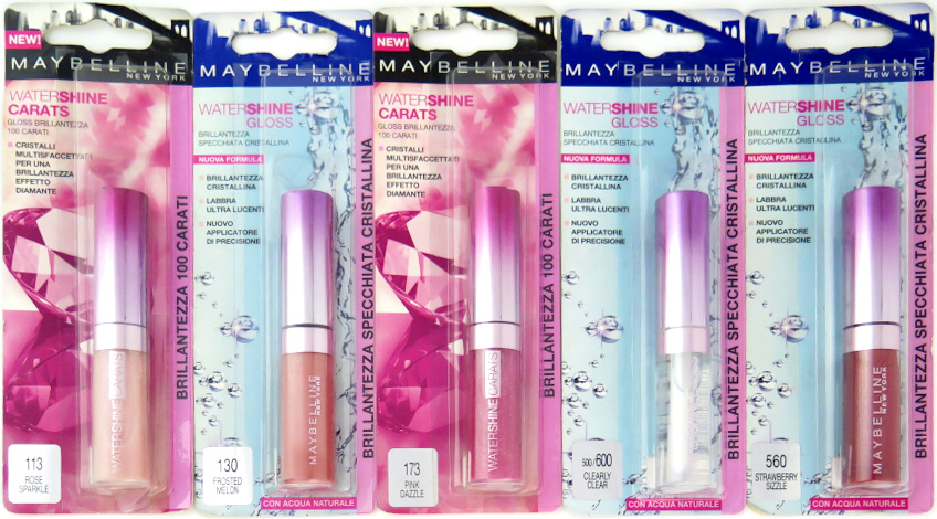 Maybelline WaterShine Gloss - Assorted