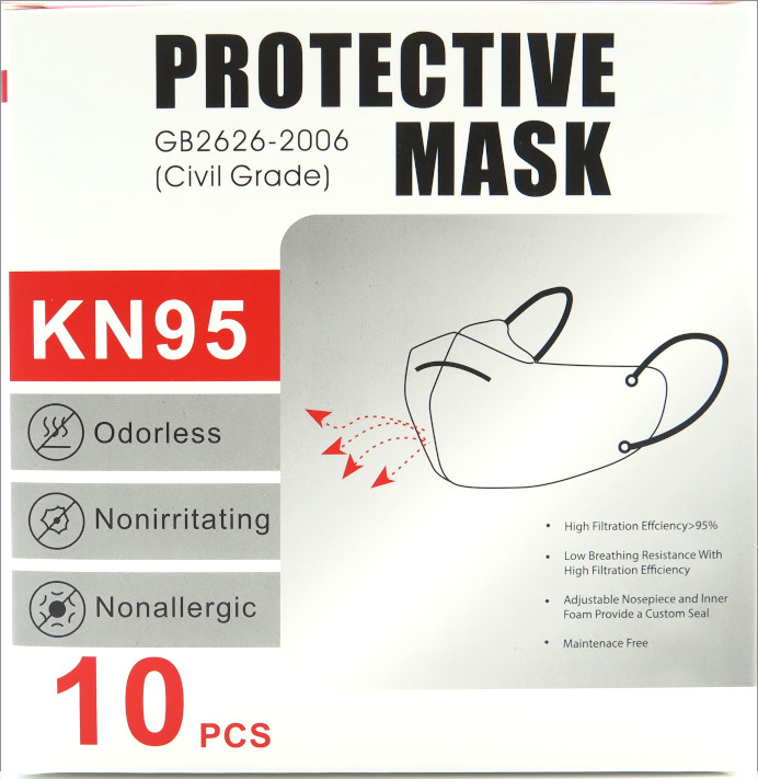 KN95 Protective Mask (Pack of 10)