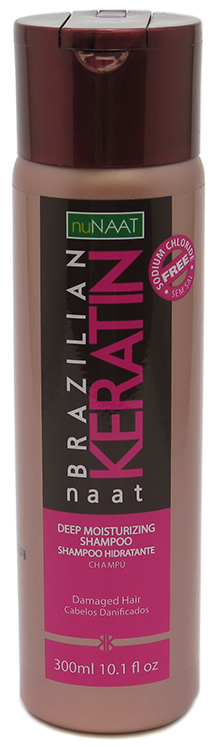nuNaat Brazilian Keratin Deep Moisturizing Shampoo For Damaged Hair 10.1 fl oz