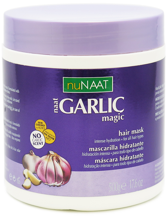 nuNaat Garlic Magic Mask Intense Hydration, For All Hair Types 17.6 oz