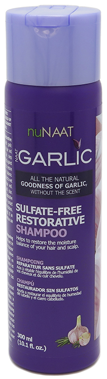 nuNaat Garlic Restorative Shampoo. Helps To Restore The Moisture Balance Of Your Hair & Scalp 10.1 fl oz