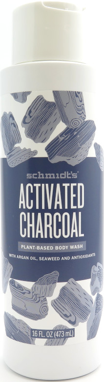 Schmidt's Plant-Based Body Wash 16 oz - Activated Charcoal