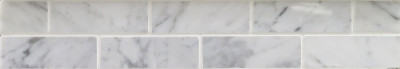 "Bianco Carrara Marble Mosaic Polished Brick 1"" x 3"" (SFD116)"