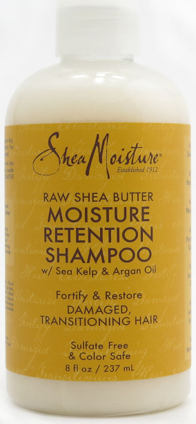 Shea Moisture Raw Shea Butter Mositure Retention Shampoo with Sea Kelp & Argan Oil 8 fl oz