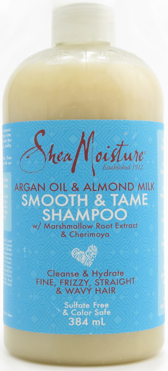 Shea Moisture Argan Oil & Almond Milk Smooth & Tame Shampoo with Marshmallow Root Extract & Cherimoya 384 ml