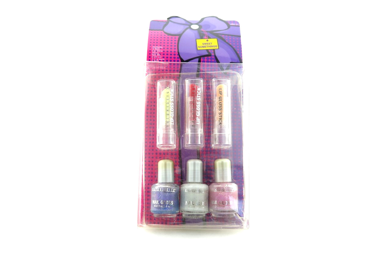 Sweet Somethings Mini Lip & Nail Collection - 3 pcs of mini Nail Polish and 3 pcs of mini Lip Gloss