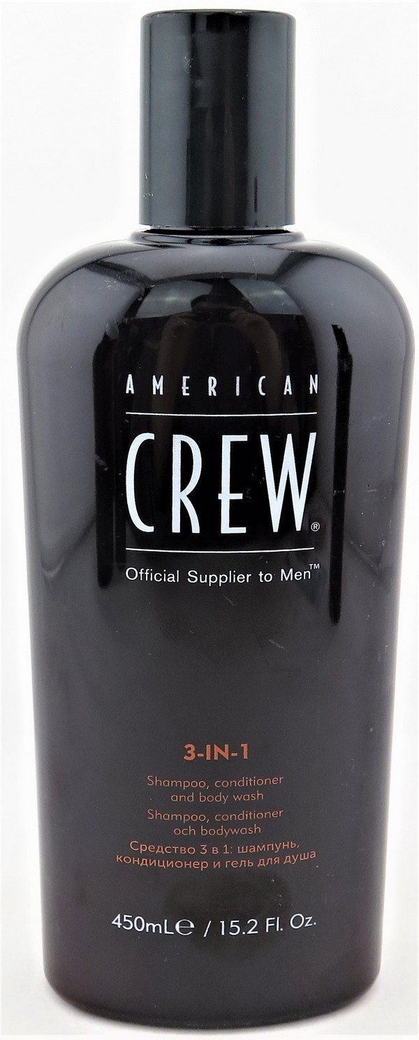 American Crew 3 in 1  Shampoo Coditioner and Bodywash 450 ml