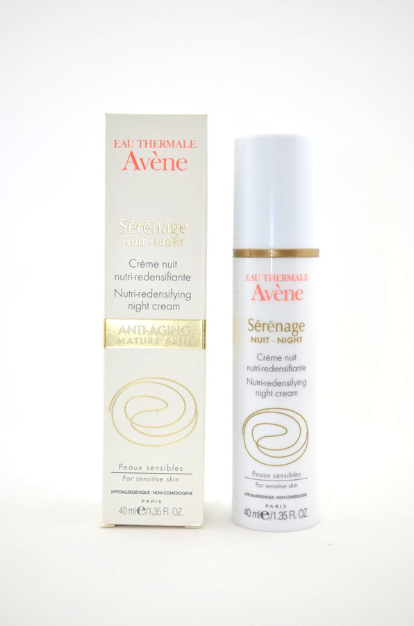 Avene Serenage Nutri Redensifying Night Cream 1.35 ounce / 40ml (Serenage crème Nuit nutri redensifiante 40ml)