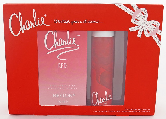 Charlie Red Eau Fraiche 100mL + Body Fragrance Spray 75mL Set - Scent of Rose Petal & Spices
