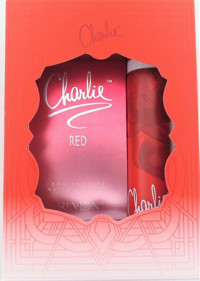 Charlie Red Duo Pack - Eau Fraiche 100mL + Body Fragrance 75mL - Scent of Rose Petal & Spices
