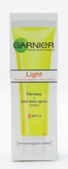 Garnier Light Fairness + Anti Dark Spots Cream 20mL