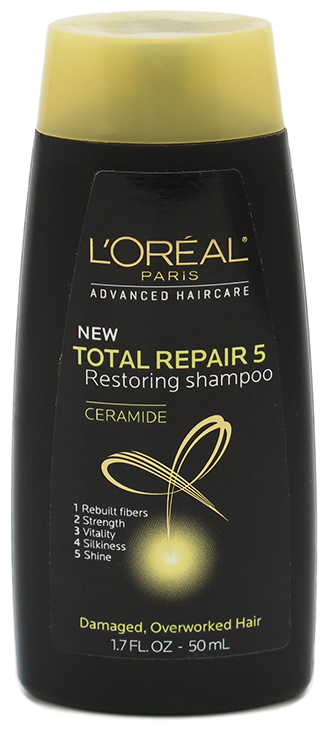 L'Oreal Total Repair 5 Restoring Shampoo - Damaged, Overworked Hair 1.7 oz (50mL) Trial Size